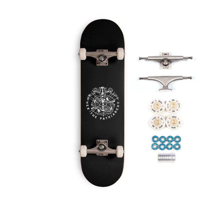 HEX THE PATRIARCHY (wht) Wishbow x Voidmerch Accessories Complete - Premium Skateboard by VOID MERCH