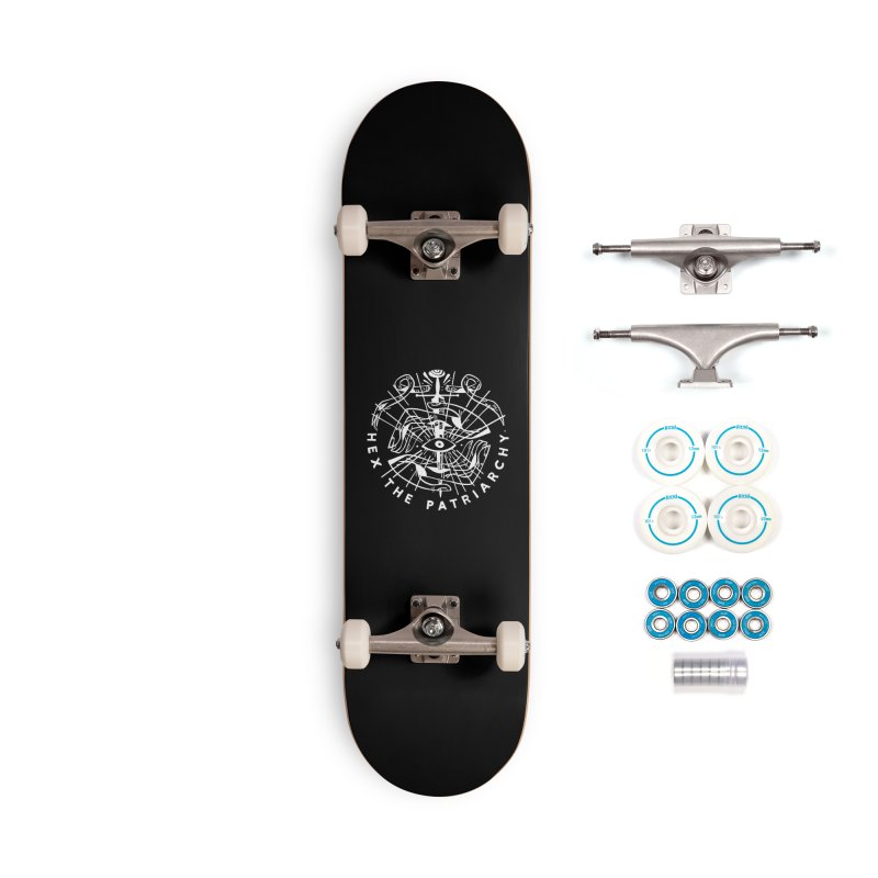 HEX THE PATRIARCHY (wht) Wishbow x Voidmerch Accessories Complete - Basic Skateboard by VOID MERCH