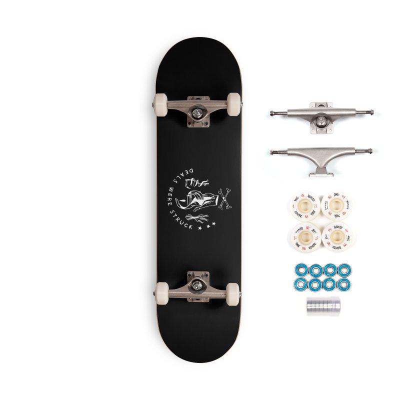 DEALS WERE STRUCK (wht) Wishbow x Voidmerch Accessories Complete - Premium Skateboard by VOID MERCH
