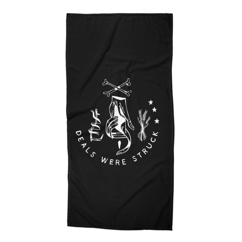 DEALS WERE STRUCK (wht) Wishbow x Voidmerch Accessories Beach Towel by VOID MERCH