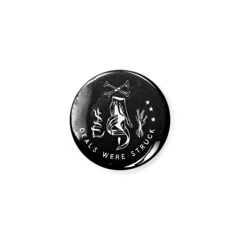 DEALS WERE STRUCK (wht) Wishbow x Voidmerch Accessories Button by VOID MERCH