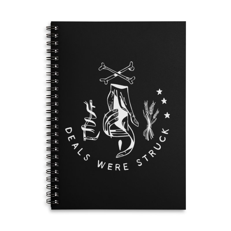 DEALS WERE STRUCK (wht) Wishbow x Voidmerch Accessories Lined Spiral Notebook by VOID MERCH
