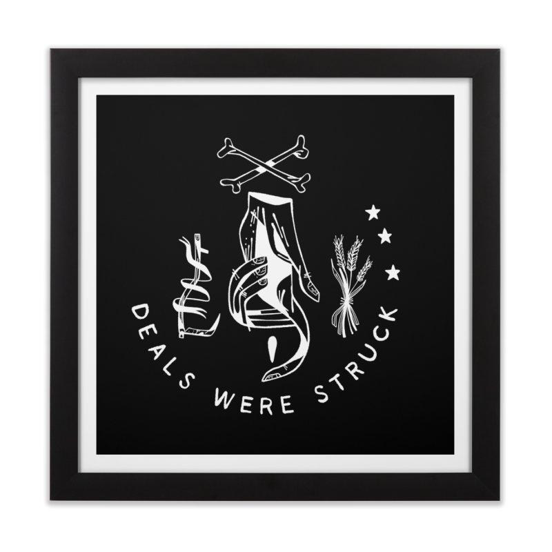 DEALS WERE STRUCK (wht) Wishbow x Voidmerch Home Framed Fine Art Print by VOID MERCH
