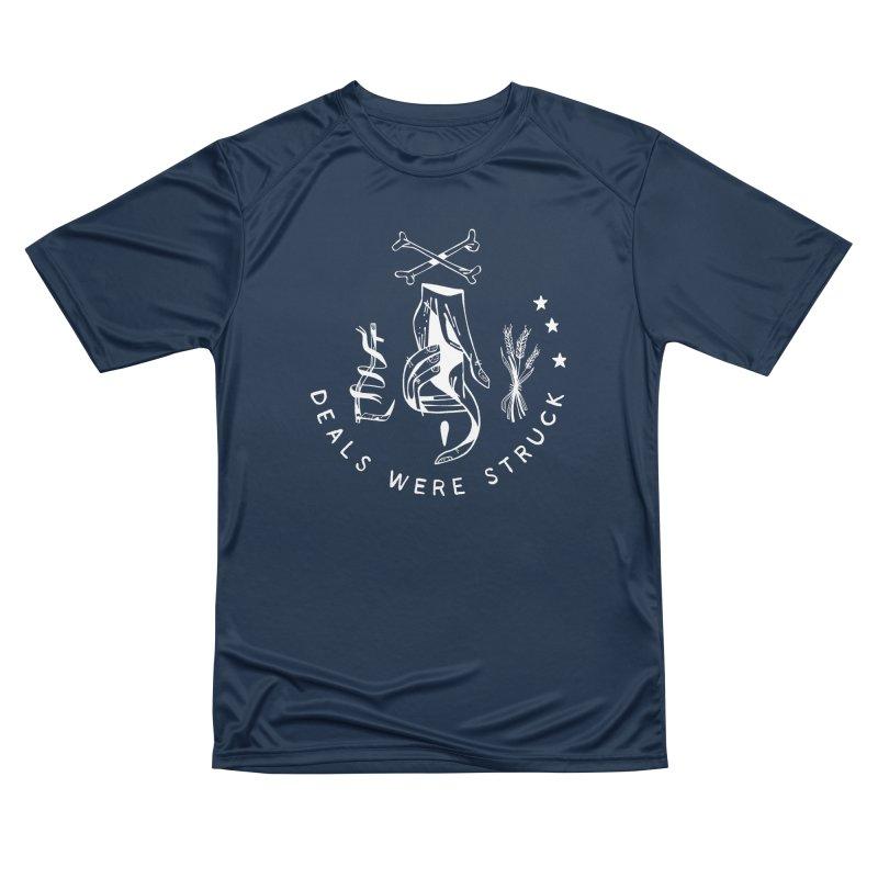 DEALS WERE STRUCK (wht) Wishbow x Voidmerch Women's Performance Unisex T-Shirt by VOID MERCH