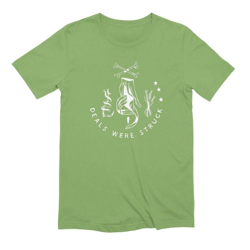 DEALS WERE STRUCK (wht) Wishbow x Voidmerch Men's Extra Soft T-Shirt by VOID MERCH