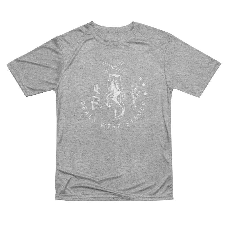 DEALS WERE STRUCK (wht) Wishbow x Voidmerch Men's Performance T-Shirt by VOID MERCH