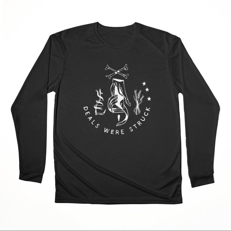DEALS WERE STRUCK (wht) Wishbow x Voidmerch Women's Performance Unisex Longsleeve T-Shirt by VOID MERCH