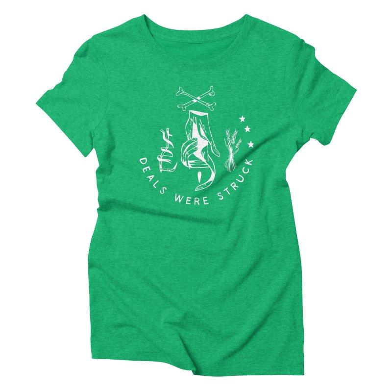 DEALS WERE STRUCK (wht) Wishbow x Voidmerch Women's Triblend T-Shirt by VOID MERCH