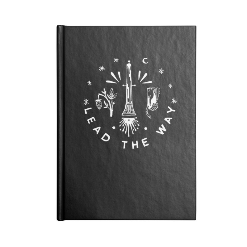 LEAD THE WAY (wht) Wishbow x Voidmerch Accessories Lined Journal Notebook by VOID MERCH