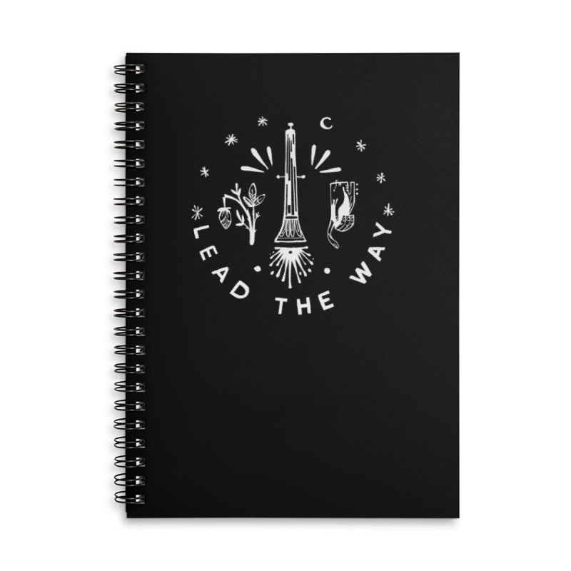 LEAD THE WAY (wht) Wishbow x Voidmerch Accessories Lined Spiral Notebook by VOID MERCH