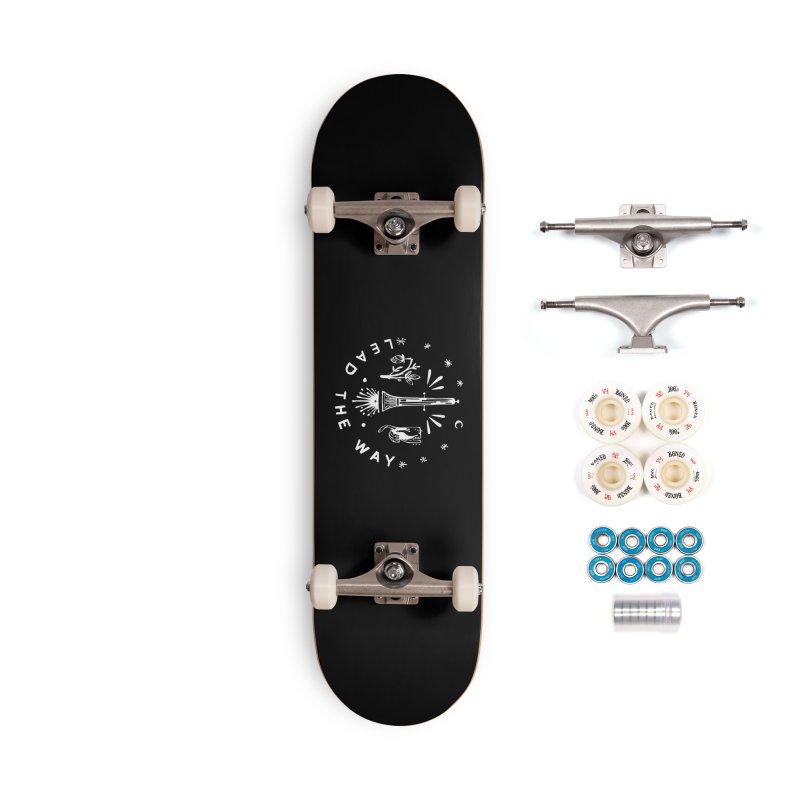LEAD THE WAY (wht) Wishbow x Voidmerch Accessories Complete - Premium Skateboard by VOID MERCH