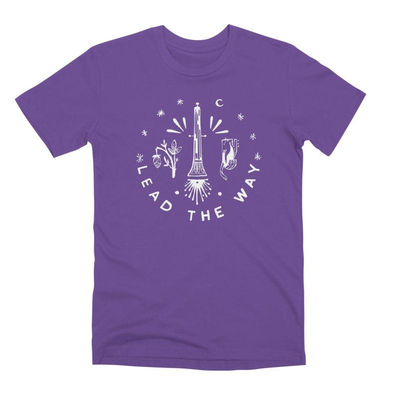 LEAD THE WAY (wht) Wishbow x Voidmerch Men's Premium T-Shirt by VOID MERCH
