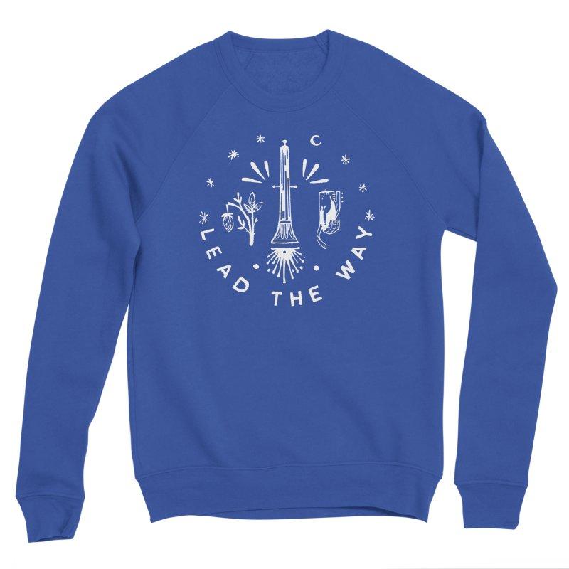 LEAD THE WAY (wht) Wishbow x Voidmerch Women's Sponge Fleece Sweatshirt by VOID MERCH