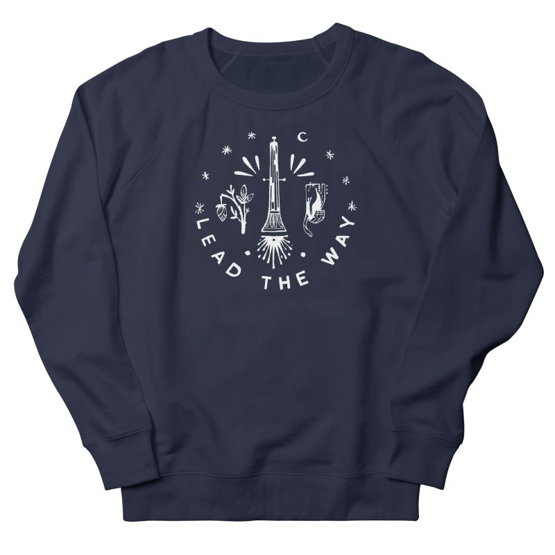 LEAD THE WAY (wht) Wishbow x Voidmerch Men's French Terry Sweatshirt by VOID MERCH