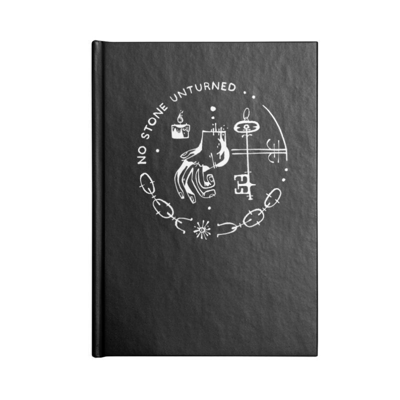 NO STONE UNTURNED (wht) Wishbow x Voidmerch Accessories Blank Journal Notebook by VOID MERCH