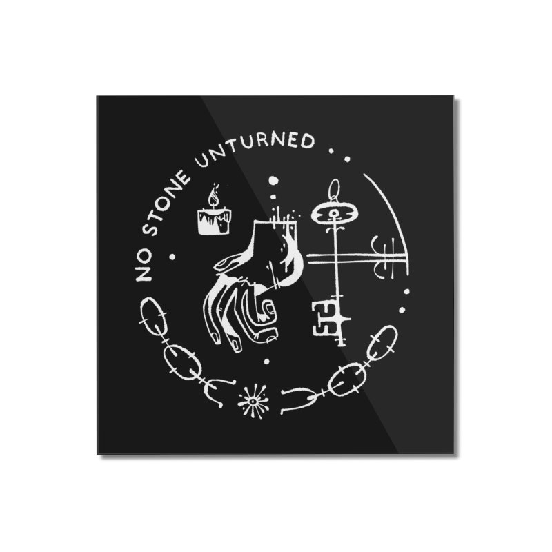 NO STONE UNTURNED (wht) Wishbow x Voidmerch Home Mounted Acrylic Print by VOID MERCH