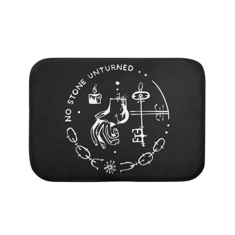 NO STONE UNTURNED (wht) Wishbow x Voidmerch Home Bath Mat by VOID MERCH