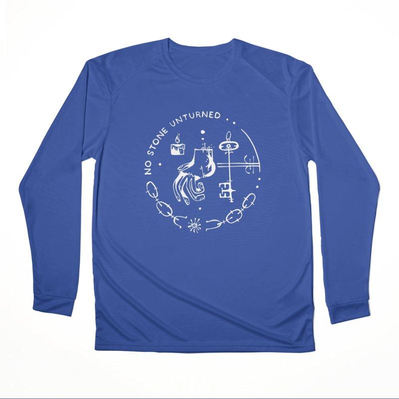 NO STONE UNTURNED (wht) Wishbow x Voidmerch Men's Performance Longsleeve T-Shirt by VOID MERCH