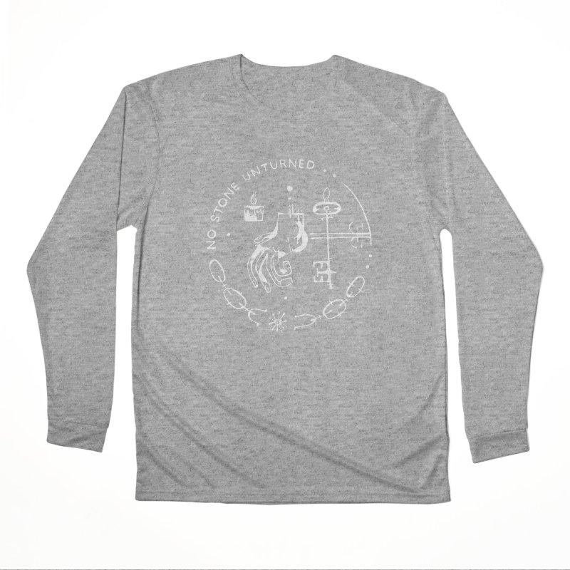 NO STONE UNTURNED (wht) Wishbow x Voidmerch Women's Performance Unisex Longsleeve T-Shirt by VOID MERCH