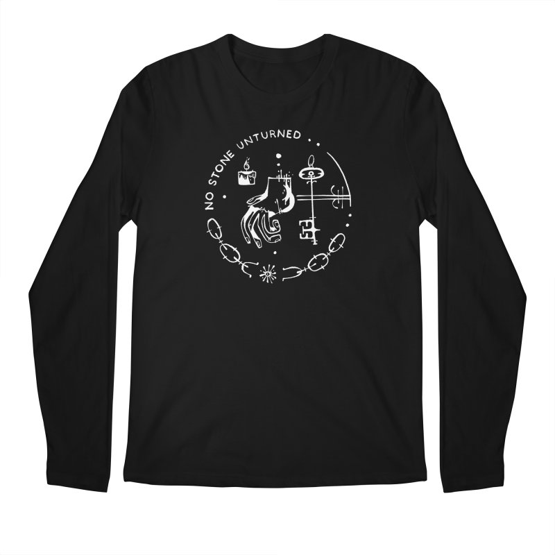 NO STONE UNTURNED (wht) Wishbow x Voidmerch Men's Regular Longsleeve T-Shirt by VOID MERCH