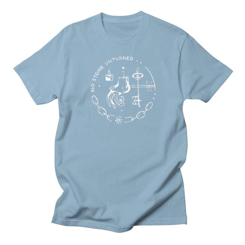 NO STONE UNTURNED (wht) Wishbow x Voidmerch Men's Regular T-Shirt by VOID MERCH