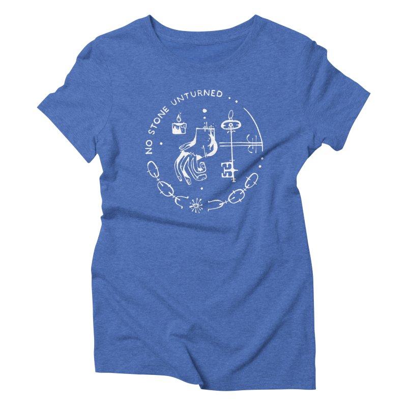 NO STONE UNTURNED (wht) Wishbow x Voidmerch Women's Triblend T-Shirt by VOID MERCH
