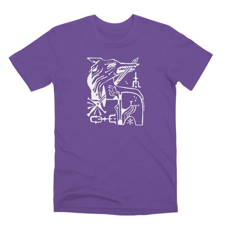 SWORD WOLF (wht) Wishbow x Voidmerch Men's Premium T-Shirt by VOID MERCH