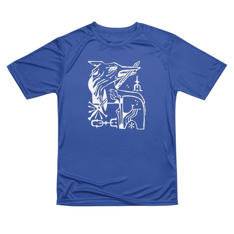SWORD WOLF (wht) Wishbow x Voidmerch Women's Performance Unisex T-Shirt by VOID MERCH