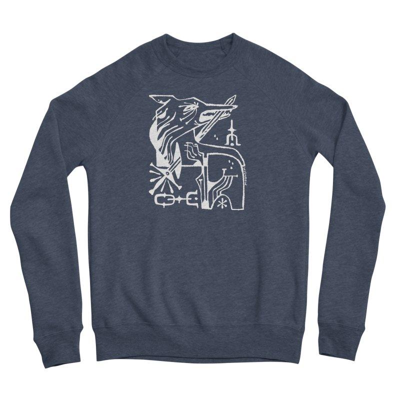 SWORD WOLF (wht) Wishbow x Voidmerch Women's Sponge Fleece Sweatshirt by VOID MERCH