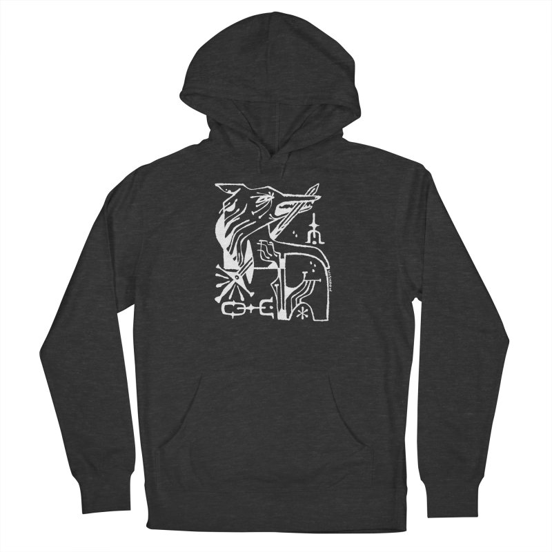SWORD WOLF (wht) Wishbow x Voidmerch Women's French Terry Pullover Hoody by VOID MERCH