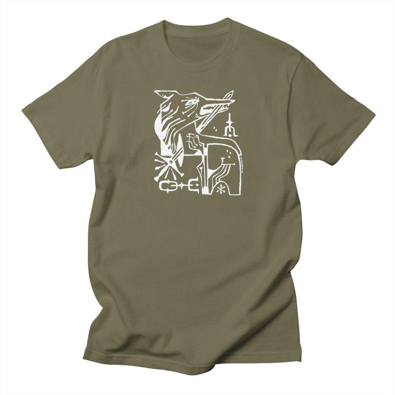 SWORD WOLF (wht) Wishbow x Voidmerch Women's Regular Unisex T-Shirt by VOID MERCH