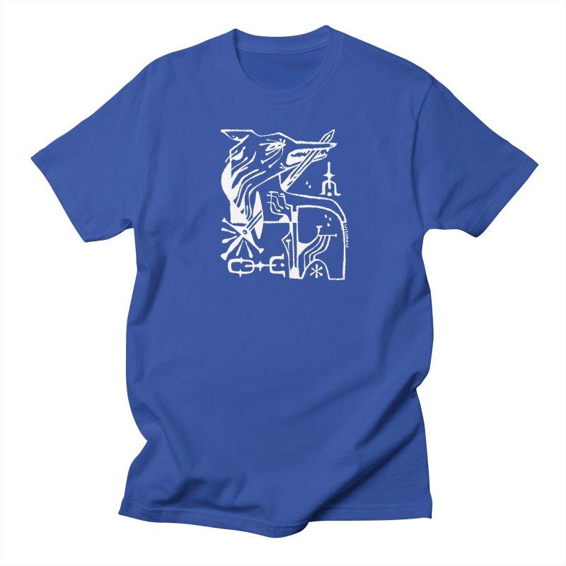 SWORD WOLF (wht) Wishbow x Voidmerch Men's Regular T-Shirt by VOID MERCH