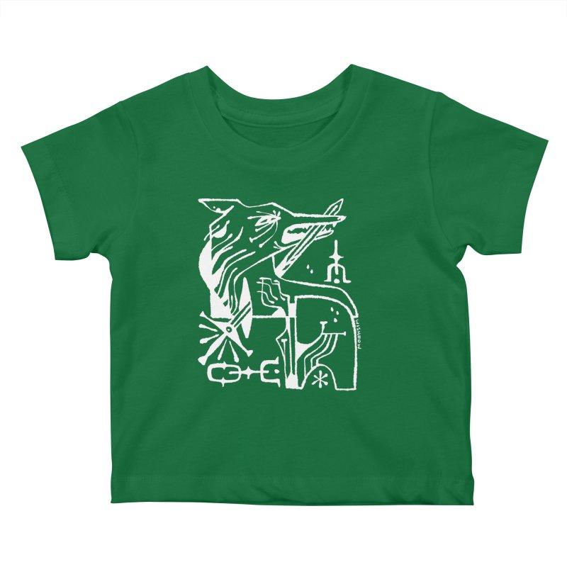 SWORD WOLF (wht) Wishbow x Voidmerch Kids Baby T-Shirt by VOID MERCH