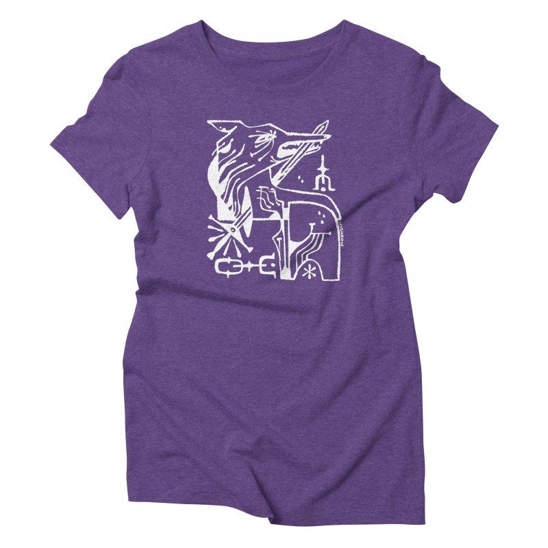 SWORD WOLF (wht) Wishbow x Voidmerch Women's Triblend T-Shirt by VOID MERCH