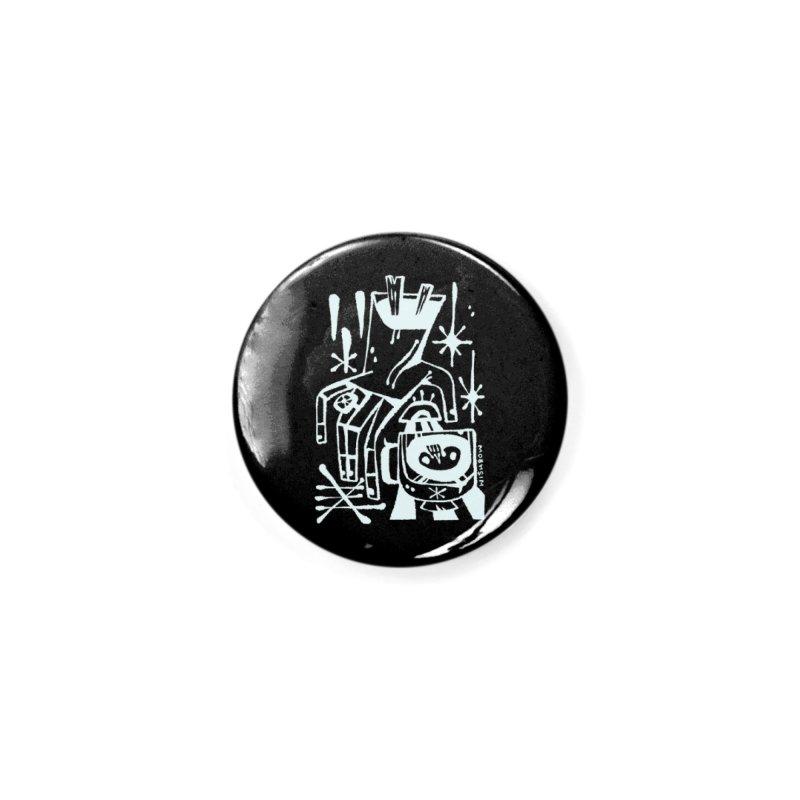 MORNING BREW (wht) Wishbow x Voidmerch Accessories Button by VOID MERCH
