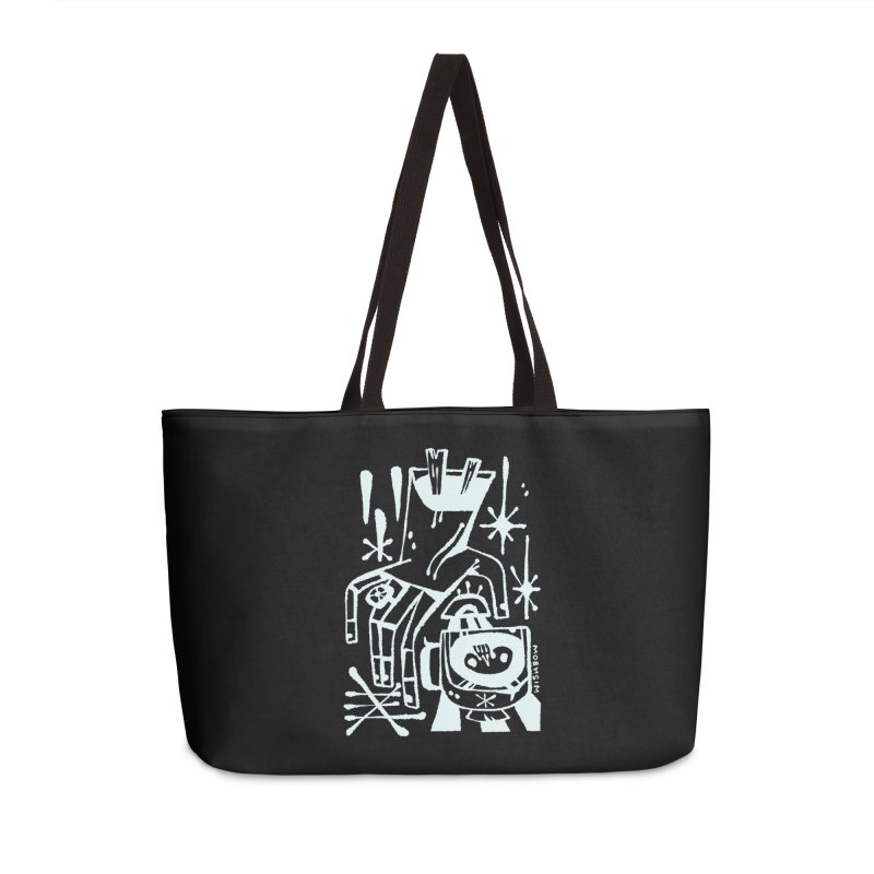 MORNING BREW (wht) Wishbow x Voidmerch Accessories Weekender Bag Bag by VOID MERCH