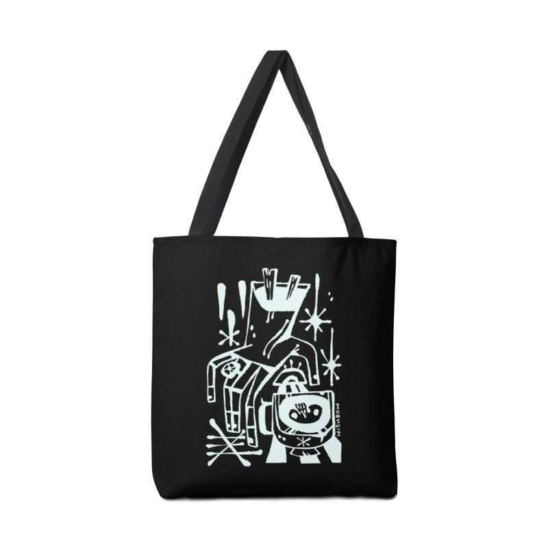 MORNING BREW (wht) Wishbow x Voidmerch Accessories Tote Bag Bag by VOID MERCH