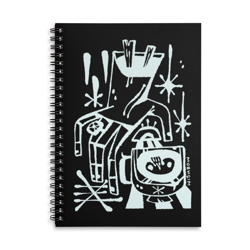 MORNING BREW (wht) Wishbow x Voidmerch Accessories Lined Spiral Notebook by VOID MERCH