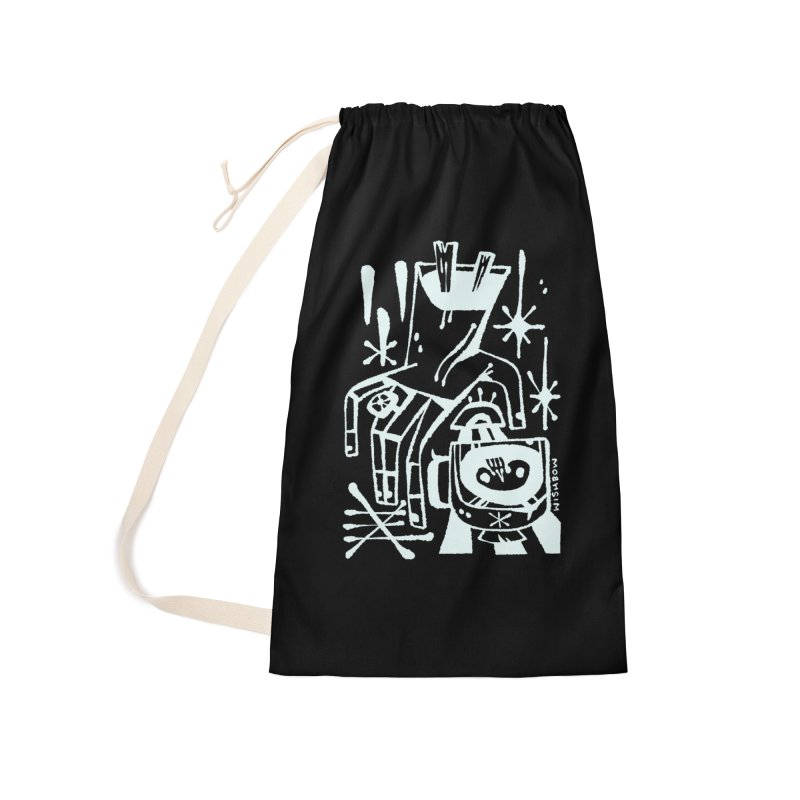 MORNING BREW (wht) Wishbow x Voidmerch Accessories Laundry Bag Bag by VOID MERCH