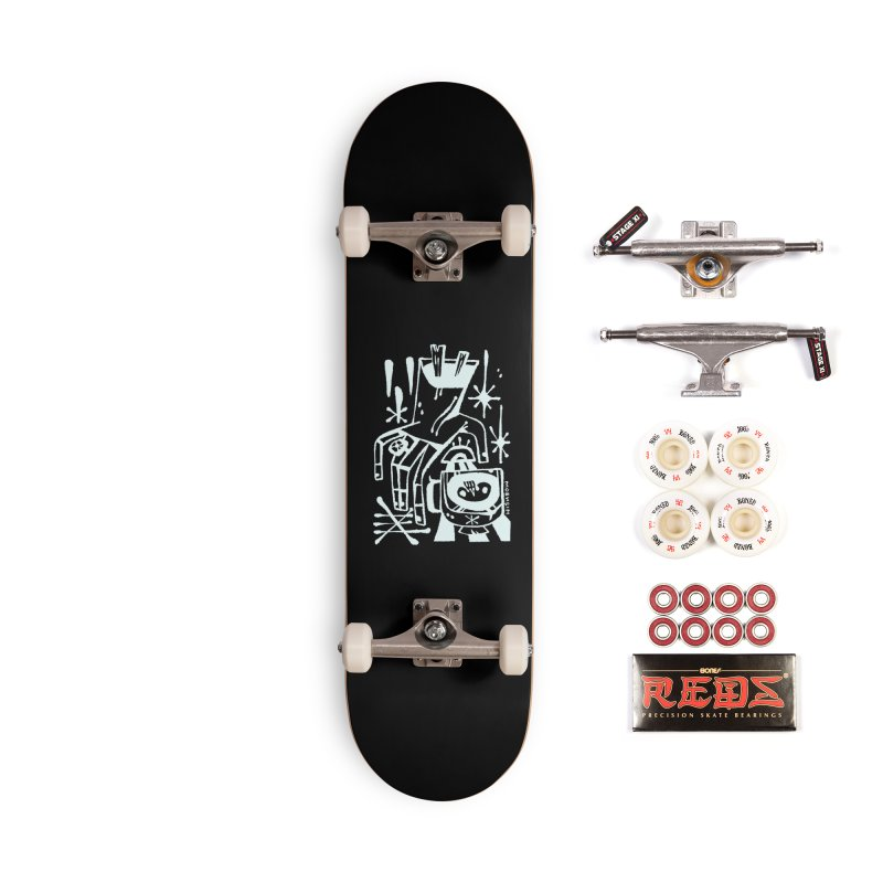 MORNING BREW (wht) Wishbow x Voidmerch Accessories Complete - Pro Skateboard by VOID MERCH