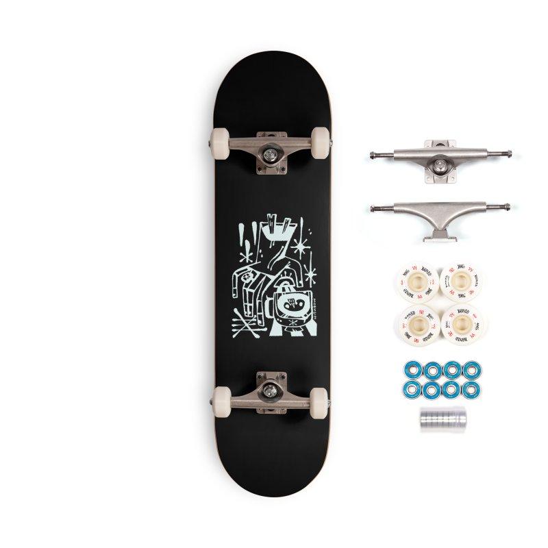 MORNING BREW (wht) Wishbow x Voidmerch Accessories Complete - Premium Skateboard by VOID MERCH