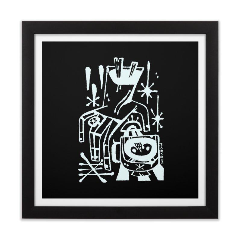 MORNING BREW (wht) Wishbow x Voidmerch Home Framed Fine Art Print by VOID MERCH