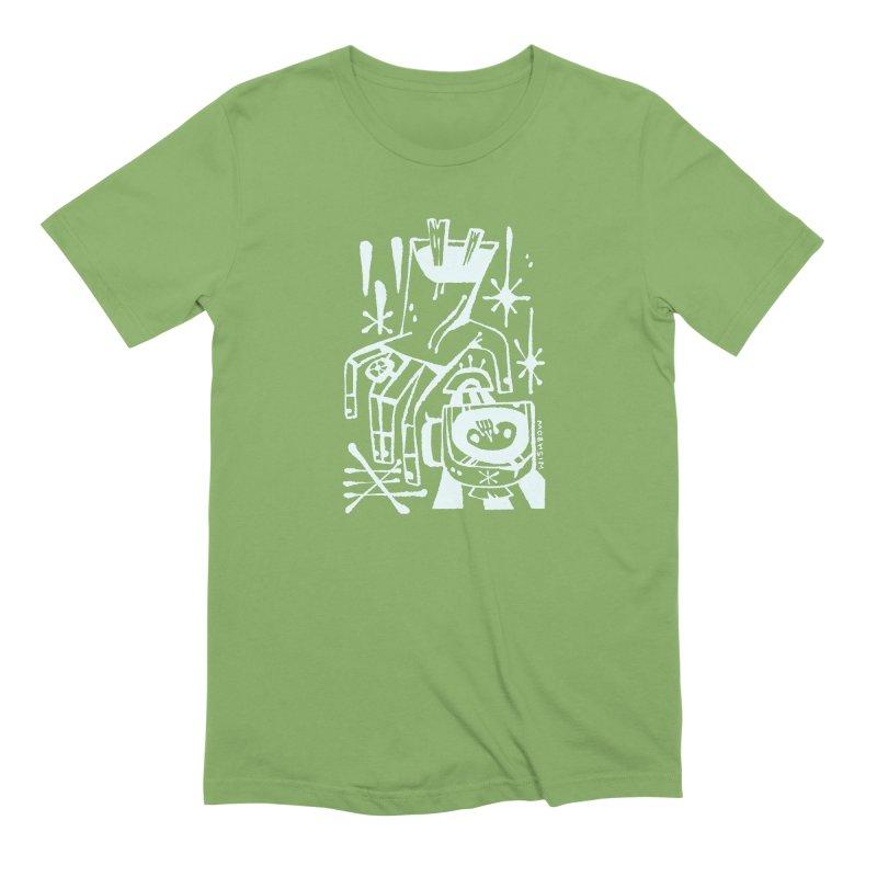 MORNING BREW (wht) Wishbow x Voidmerch Men's Extra Soft T-Shirt by VOID MERCH