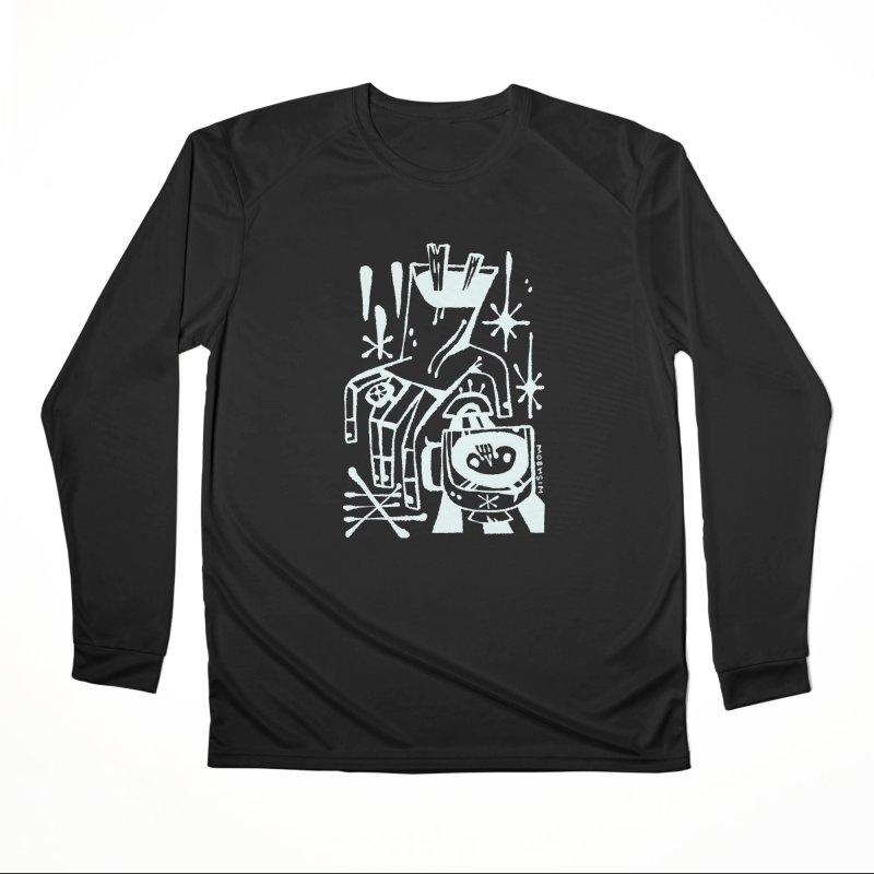 MORNING BREW (wht) Wishbow x Voidmerch Women's Performance Unisex Longsleeve T-Shirt by VOID MERCH