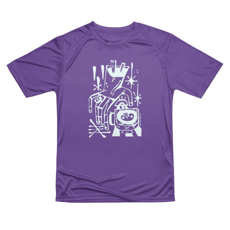 MORNING BREW (wht) Wishbow x Voidmerch Women's Performance Unisex T-Shirt by VOID MERCH