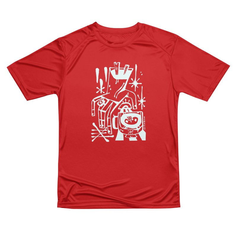 MORNING BREW (wht) Wishbow x Voidmerch Men's Performance T-Shirt by VOID MERCH