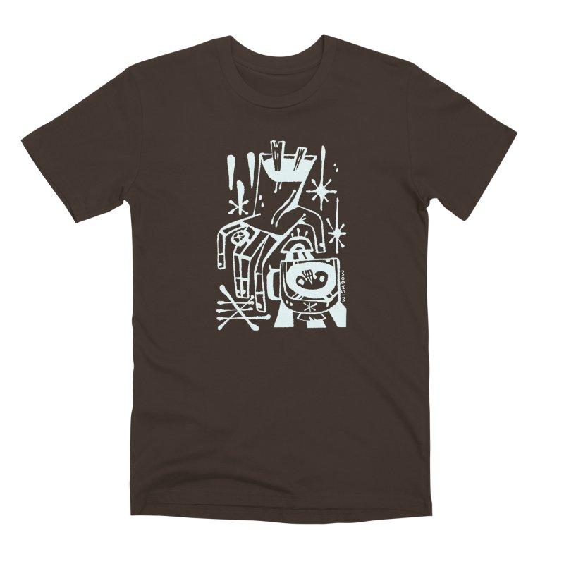 MORNING BREW (wht) Wishbow x Voidmerch Men's Premium T-Shirt by VOID MERCH