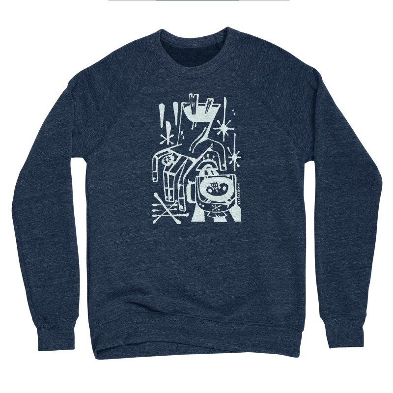 MORNING BREW (wht) Wishbow x Voidmerch Women's Sponge Fleece Sweatshirt by VOID MERCH