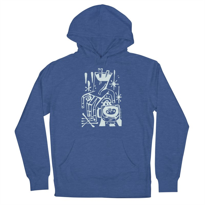 MORNING BREW (wht) Wishbow x Voidmerch Women's French Terry Pullover Hoody by VOID MERCH