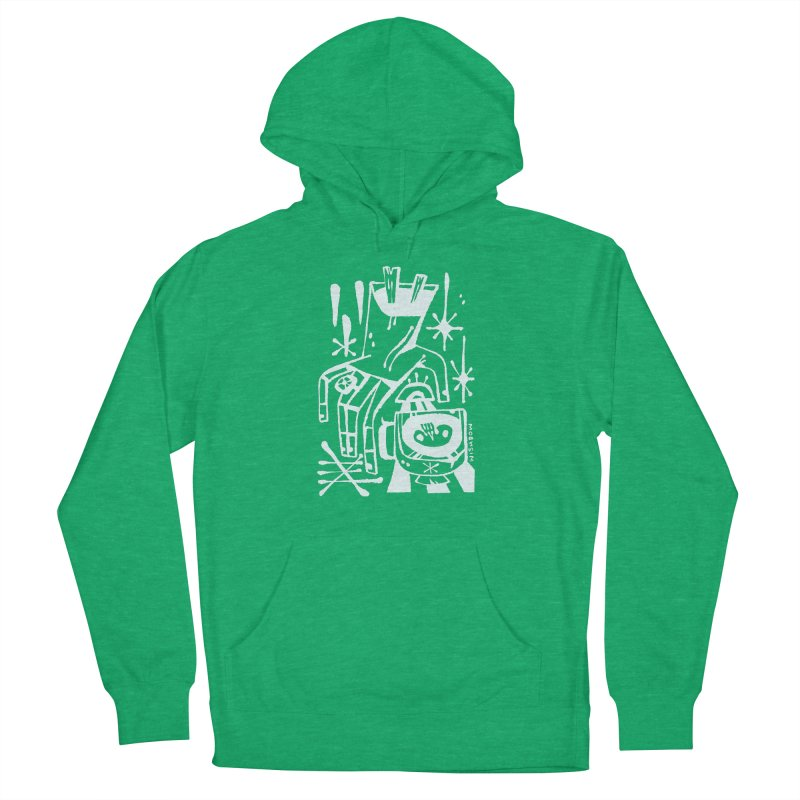 MORNING BREW (wht) Wishbow x Voidmerch Men's French Terry Pullover Hoody by VOID MERCH